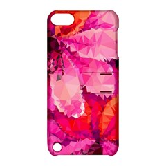 Geometric Magenta Garden Apple Ipod Touch 5 Hardshell Case With Stand by DanaeStudio