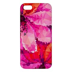 Geometric Magenta Garden Apple iPhone 5 Premium Hardshell Case