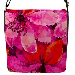 Geometric Magenta Garden Flap Messenger Bag (s) by DanaeStudio