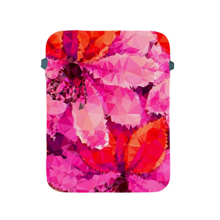 Geometric Magenta Garden Apple iPad 2/3/4 Protective Soft Cases