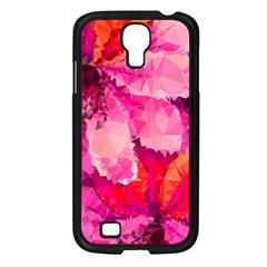 Geometric Magenta Garden Samsung Galaxy S4 I9500/ I9505 Case (black)