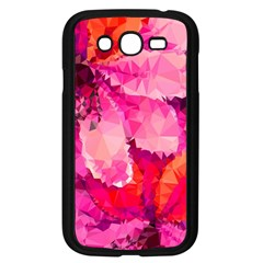 Geometric Magenta Garden Samsung Galaxy Grand DUOS I9082 Case (Black)