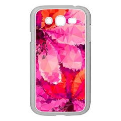 Geometric Magenta Garden Samsung Galaxy Grand Duos I9082 Case (white)