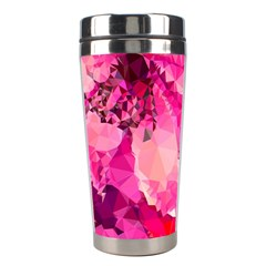 Geometric Magenta Garden Stainless Steel Travel Tumblers by DanaeStudio