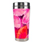 Geometric Magenta Garden Stainless Steel Travel Tumblers Right