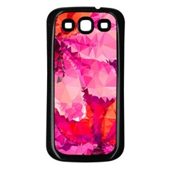 Geometric Magenta Garden Samsung Galaxy S3 Back Case (Black)