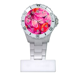 Geometric Magenta Garden Plastic Nurses Watch