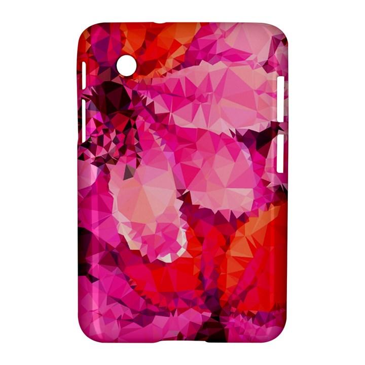 Geometric Magenta Garden Samsung Galaxy Tab 2 (7 ) P3100 Hardshell Case