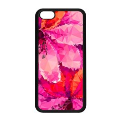 Geometric Magenta Garden Apple Iphone 5c Seamless Case (black) by DanaeStudio