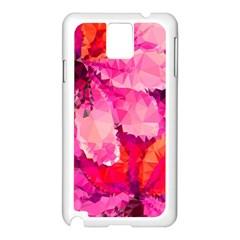 Geometric Magenta Garden Samsung Galaxy Note 3 N9005 Case (white) by DanaeStudio
