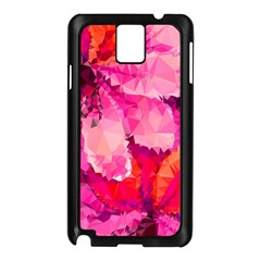 Geometric Magenta Garden Samsung Galaxy Note 3 N9005 Case (black) by DanaeStudio