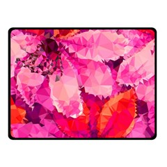 Geometric Magenta Garden Double Sided Fleece Blanket (small)  by DanaeStudio
