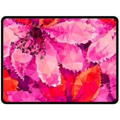 Geometric Magenta Garden Double Sided Fleece Blanket (large)  by DanaeStudio