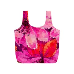 Geometric Magenta Garden Full Print Recycle Bags (s)  by DanaeStudio
