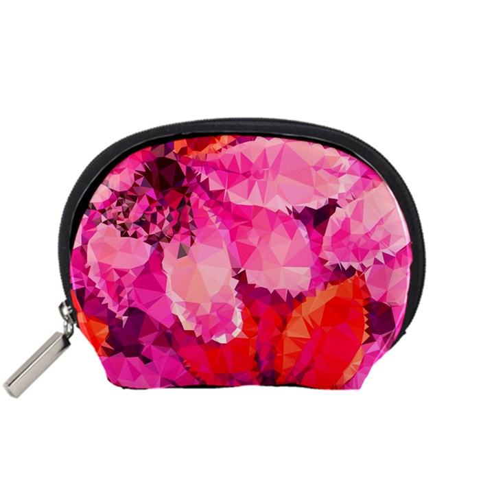 Geometric Magenta Garden Accessory Pouches (Small)