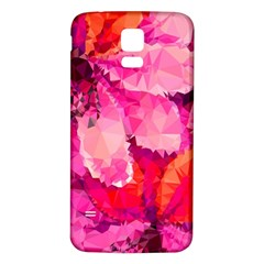 Geometric Magenta Garden Samsung Galaxy S5 Back Case (white)
