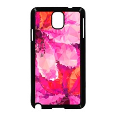 Geometric Magenta Garden Samsung Galaxy Note 3 Neo Hardshell Case (black) by DanaeStudio