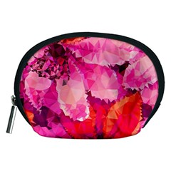 Geometric Magenta Garden Accessory Pouches (medium)  by DanaeStudio
