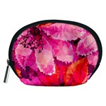 Geometric Magenta Garden Accessory Pouches (Medium)  Front