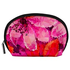 Geometric Magenta Garden Accessory Pouches (large)  by DanaeStudio