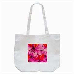 Geometric Magenta Garden Tote Bag (white) by DanaeStudio