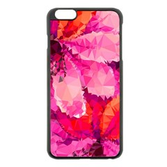 Geometric Magenta Garden Apple Iphone 6 Plus/6s Plus Black Enamel Case by DanaeStudio