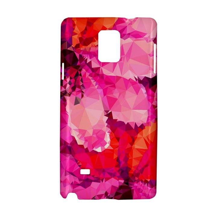 Geometric Magenta Garden Samsung Galaxy Note 4 Hardshell Case