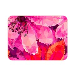 Geometric Magenta Garden Double Sided Flano Blanket (mini)  by DanaeStudio