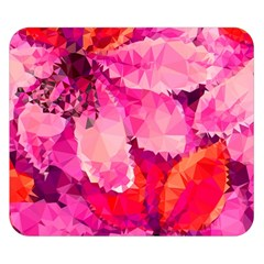 Geometric Magenta Garden Double Sided Flano Blanket (small)  by DanaeStudio
