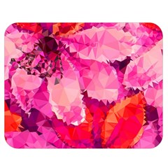 Geometric Magenta Garden Double Sided Flano Blanket (medium)  by DanaeStudio