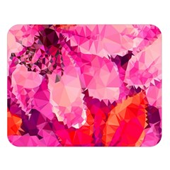 Geometric Magenta Garden Double Sided Flano Blanket (large)  by DanaeStudio