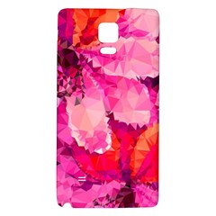 Geometric Magenta Garden Galaxy Note 4 Back Case