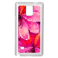 Geometric Magenta Garden Samsung Galaxy Note 4 Case (White)