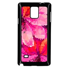 Geometric Magenta Garden Samsung Galaxy Note 4 Case (black) by DanaeStudio