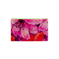 Geometric Magenta Garden Cosmetic Bag (xs) by DanaeStudio