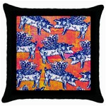 Little Flying Pigs Throw Pillow Case (Black) Front