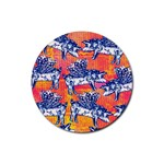 Little Flying Pigs Rubber Round Coaster (4 pack)  Front