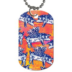 Little Flying Pigs Dog Tag (one Side) by DanaeStudio