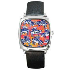 Little Flying Pigs Square Metal Watch by DanaeStudio