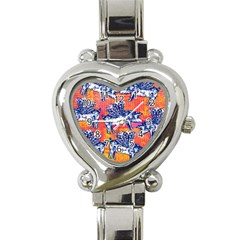 Little Flying Pigs Heart Italian Charm Watch by DanaeStudio