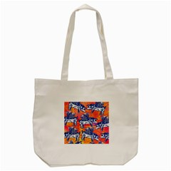 Little Flying Pigs Tote Bag (cream) by DanaeStudio