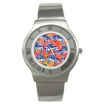 Little Flying Pigs Stainless Steel Watch Front