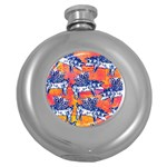 Little Flying Pigs Round Hip Flask (5 oz)