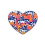 Little Flying Pigs Rubber Coaster (Heart)