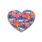Little Flying Pigs Heart Coaster (4 pack)  Front