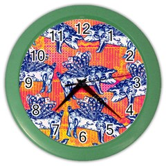 Little Flying Pigs Color Wall Clocks by DanaeStudio