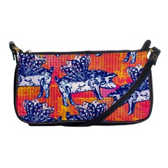 Little Flying Pigs Shoulder Clutch Bags by DanaeStudio