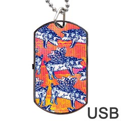 Little Flying Pigs Dog Tag Usb Flash (one Side) by DanaeStudio