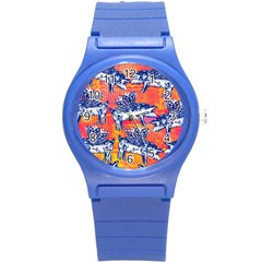 Little Flying Pigs Round Plastic Sport Watch (s) by DanaeStudio