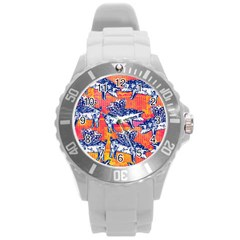 Little Flying Pigs Round Plastic Sport Watch (l) by DanaeStudio